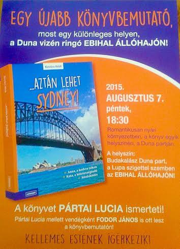 Kovács Hédi: ...Aztán lehet Sydney könyvbemutató